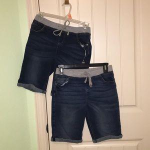 Set of 2 Justice Girls Denim Shorts Size 16